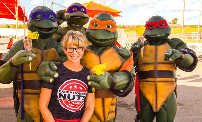 Exceptionally Nuts and Teenage Mutant Ninja Turtles