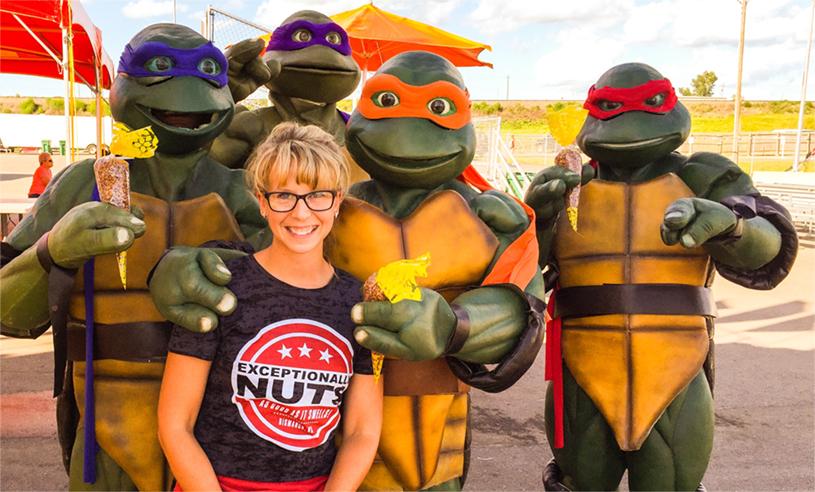 Exceptionally Nuts and Teenage Mutant Ninja Turtles